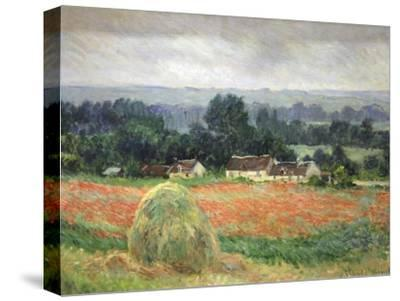 Haystack at Giverny, 1886-Claude Monet-Stretched Canvas Print