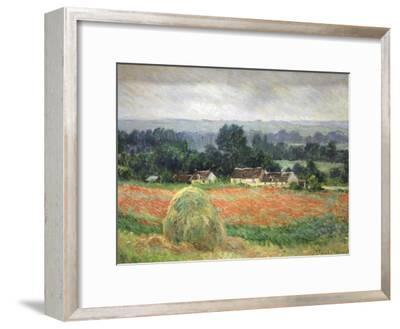 Haystack at Giverny, 1886-Claude Monet-Framed Premium Giclee Print