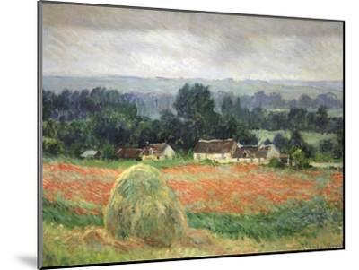 Haystack at Giverny, 1886-Claude Monet-Mounted Premium Giclee Print