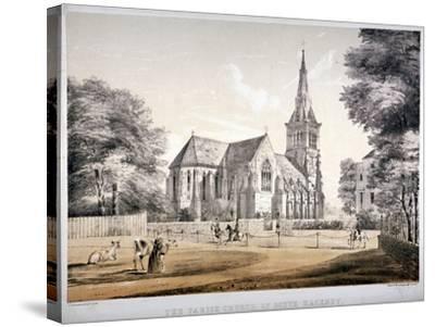 The Church of St John of Jerusalem, Hackney, London, C1850-CJ Greenwood-Stretched Canvas Print