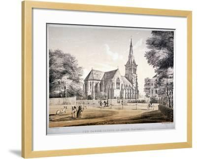 The Church of St John of Jerusalem, Hackney, London, C1850-CJ Greenwood-Framed Giclee Print