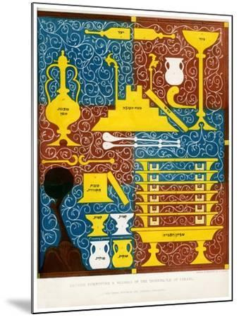 Sacred Furniture and Vessels of the Tabernacle of Israel, 15th Century-CJ Smith-Mounted Giclee Print