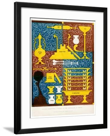 Sacred Furniture and Vessels of the Tabernacle of Israel, 15th Century-CJ Smith-Framed Giclee Print