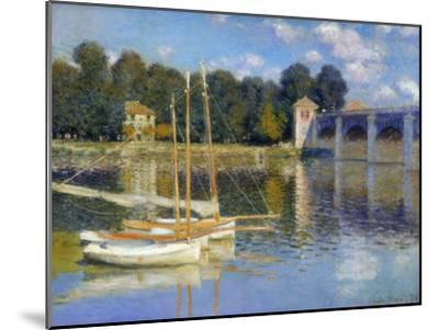 The Bridge at Argenteuil, 1874-Claude Monet-Mounted Premium Giclee Print