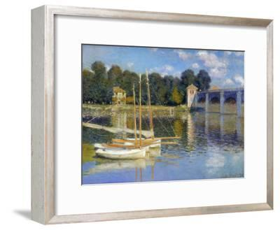 The Bridge at Argenteuil, 1874-Claude Monet-Framed Premium Giclee Print