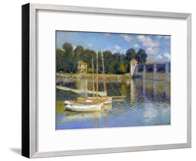 The Bridge at Argenteuil, 1874-Claude Monet-Framed Giclee Print
