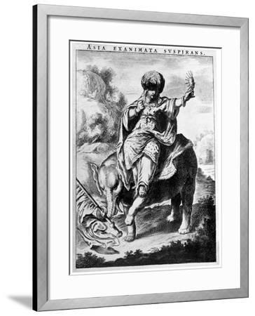 Allegorical View of Asia, Early 20th Century-Cornelis de Visscher-Framed Giclee Print