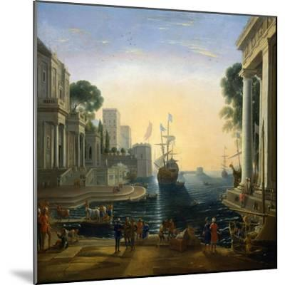 Harbour' after Claude Lorraine, C1820-Clause Lorraine-Mounted Giclee Print