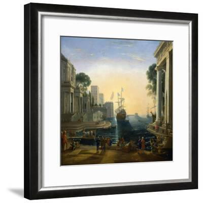 Harbour' after Claude Lorraine, C1820-Clause Lorraine-Framed Giclee Print