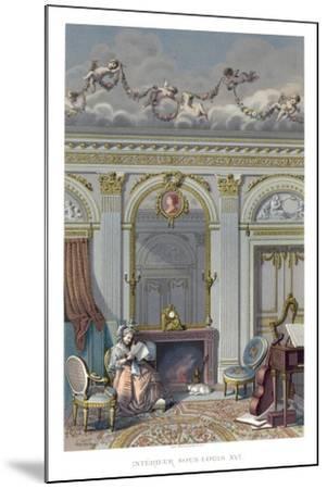 Interior under Louis XVI- Durin-Mounted Giclee Print