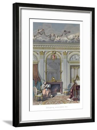 Interior under Louis XVI- Durin-Framed Giclee Print