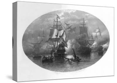 The Naval Battle of Sole Bay, 1672-CL van Kesteren-Stretched Canvas Print