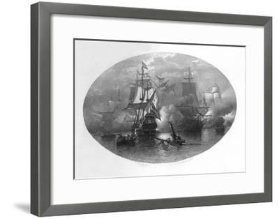 The Naval Battle of Sole Bay, 1672-CL van Kesteren-Framed Giclee Print