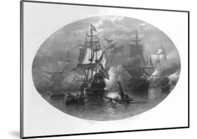 The Naval Battle of Sole Bay, 1672-CL van Kesteren-Mounted Giclee Print
