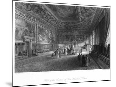 Hall of the Council of 'Five Hundred, Venice, Italy, 19th Century-E Challis-Mounted Giclee Print