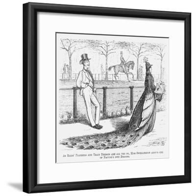 Miss Swellington Taking a Walk, 1867-Edward Linley Sambourne-Framed Giclee Print