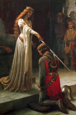 The Accolade, 1901-Edmund Blair Leighton-Stretched Canvas Print