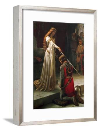 The Accolade, 1901-Edmund Blair Leighton-Framed Premium Giclee Print
