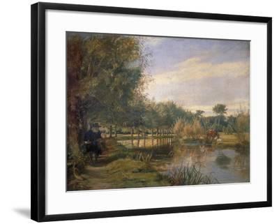 Izaak Walton Fishing, 1850-EM Ward-Framed Giclee Print