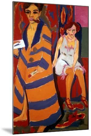 Self Portrait with a Model, 1907-Ernst Kirchner-Mounted Giclee Print
