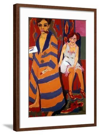 Self Portrait with a Model, 1907-Ernst Kirchner-Framed Giclee Print