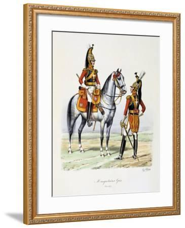 Mousquetaires Gris, 1814-15-Eugene Titeux-Framed Giclee Print