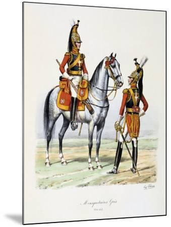 Mousquetaires Gris, 1814-15-Eugene Titeux-Mounted Giclee Print