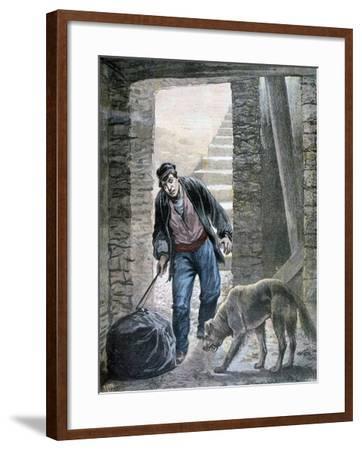 A Crime on the Rue Botzaris, Paris, 1892-F Meaulle-Framed Giclee Print