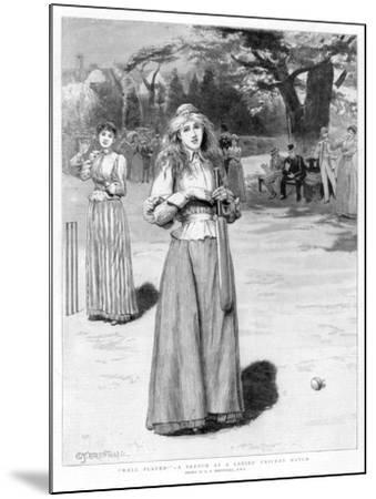 Well Played! - a Sketch at a Ladies' Cricket Match, 1890-Edward Frederick Brewtnall-Mounted Giclee Print