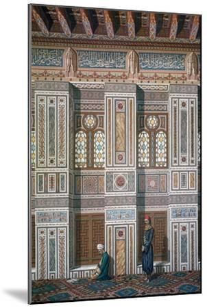 Main Room, Mosque of Ahmed El-Bordeyny, 19th Century-Emile Prisse d'Avennes-Mounted Giclee Print