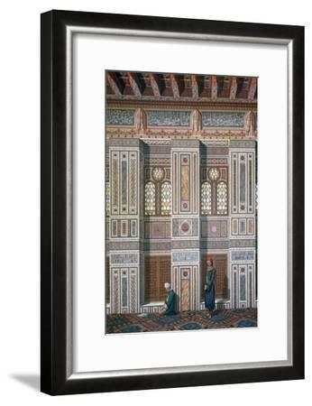 Main Room, Mosque of Ahmed El-Bordeyny, 19th Century-Emile Prisse d'Avennes-Framed Giclee Print