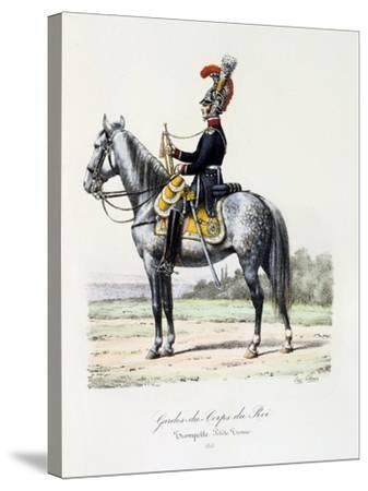 Gardes-Du-Corps De Roi, Trumpeter (Petite Tenu), 1815-Eugene Titeux-Stretched Canvas Print