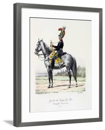 Gardes-Du-Corps De Roi, Trumpeter (Petite Tenu), 1815-Eugene Titeux-Framed Giclee Print