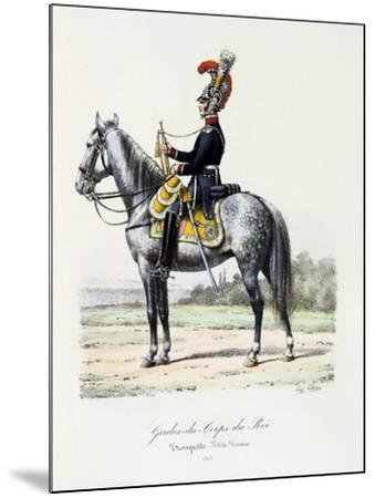 Gardes-Du-Corps De Roi, Trumpeter (Petite Tenu), 1815-Eugene Titeux-Mounted Giclee Print
