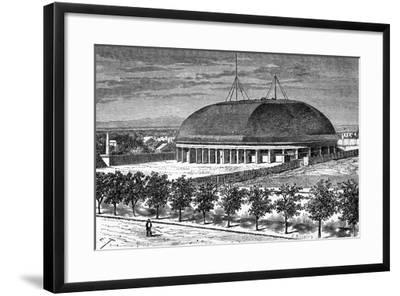 Tabernacle of the Grand Temple of the Mormons, USA, 19th Century-E Therond-Framed Giclee Print