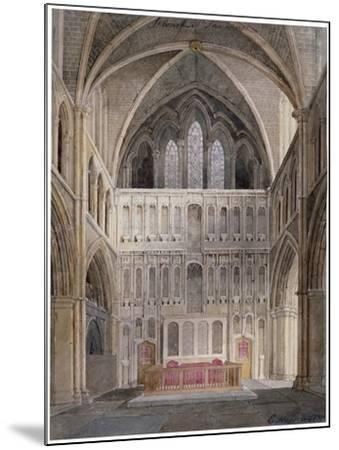 Interior View Looking Towards the Altar, St Saviour's Church, Southwark, London, 1830-Edward Hassell-Mounted Giclee Print