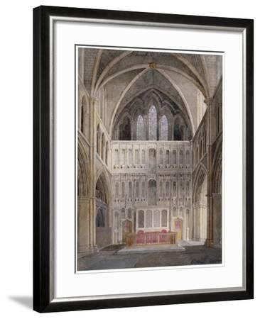 Interior View Looking Towards the Altar, St Saviour's Church, Southwark, London, 1830-Edward Hassell-Framed Giclee Print