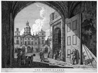 View of Horse Guards, Westminster, London, 1768-Edward Rooker-Framed Giclee Print