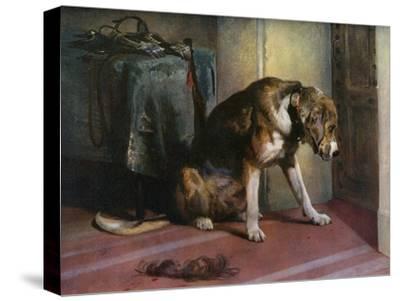Suspense, 19th Century-Edwin Henry Landseer-Stretched Canvas Print