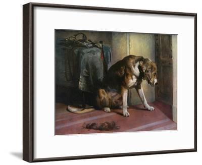 Suspense, 19th Century-Edwin Henry Landseer-Framed Giclee Print