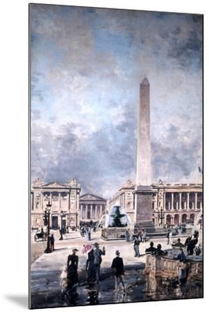 Obelisk of Luxor and the Place De La Concorde, 1891-Emmanuel Lansyer-Mounted Giclee Print
