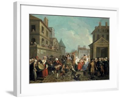 Carnival in the Streets of Paris, 1757-Etienne Jeaurat-Framed Giclee Print