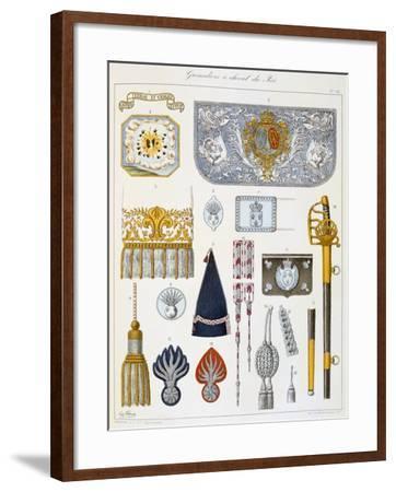 Grenadiers À Cheval Du Roi, Insignia-Eugene Titeux-Framed Giclee Print
