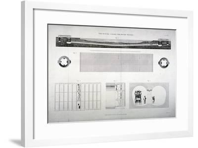 Plan, Sections and Elevations of the Thames Tunnel, London, 1835-E Turrell-Framed Giclee Print