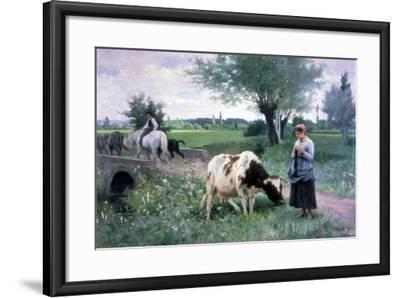 The Well Guarded Cow, 1890-Edouard Bernard Debat-Ponsan-Framed Giclee Print