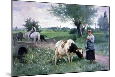 The Well Guarded Cow, 1890-Edouard Bernard Debat-Ponsan-Mounted Giclee Print