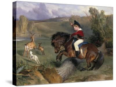 The First Leap: Lord Alexander Russell on His Pony 'Emerald', 1829-Edwin Henry Landseer-Stretched Canvas Print