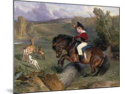 The First Leap: Lord Alexander Russell on His Pony 'Emerald', 1829-Edwin Henry Landseer-Mounted Giclee Print