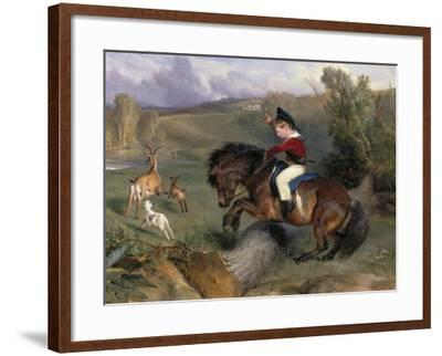 The First Leap: Lord Alexander Russell on His Pony 'Emerald', 1829-Edwin Henry Landseer-Framed Giclee Print