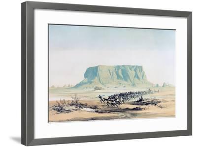 View of Mount Barkal, Sudan, 1842-1845-E Weidenbach-Framed Giclee Print